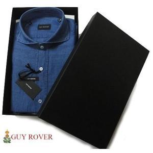 GUY ROVER ギローバー ワイドカラー リネン コットン シャンブレーシャツ progres