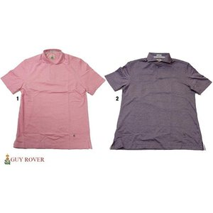 GUY ROVER ギローバー 鹿の子 ワイドカラー スキッパー ポロシャツ  progres