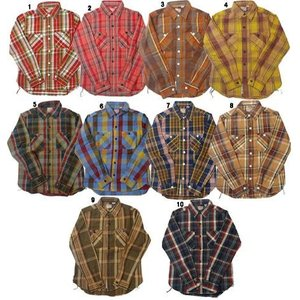 HOUSTON ヒューストン チェックシャツ メンズ チェックシャツ ネルシャツ ワークシャツ 長袖シャツ progres