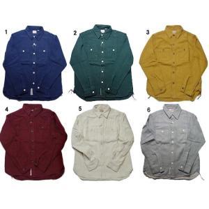 HOUSTON ヒューストン ビエラ ワーク シャツ メンズ  ネルシャツ 無地 シャツ 長袖シャツ progres