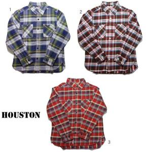 HOUSTON ヒューストン チェックシャツ メンズ チェックシャツ ネルシャツ ワークシャツ 長袖シャツ 40108 progres