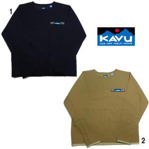 KAVU カブー メンズ シンセティックトフィーノ  クルーネック ナイロン プルオーバー|progres