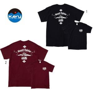 KAVU カブー メンズ レイニアティー プリントTシャツ バックプリント|progres