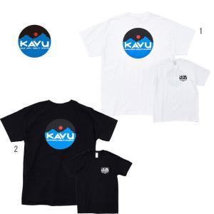 KAVU カブー メンズ サークルロゴTシャツ プリントTシャツ バックプリント progres