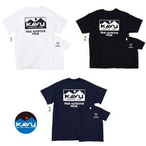 KAVU カブー メンズ トゥルーロゴTシャツ プリントTシャツ バックプリント|progres