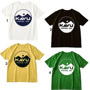 KAVU カブー メンズ サークルロゴTシャツ プリントTシャツ|progres