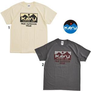 KAVU カブー メンズ トゥルーロゴ 2カラー Tシャツ プリントTシャツ|progres