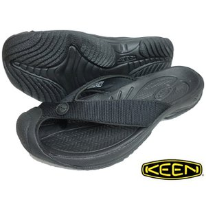 KEEN キーン メンズ ワイメア エイチツー Men's WAIMEA H2 TRIPLE BLACKBLACK 1021157 トングサンダル ビーチサンダル|progres