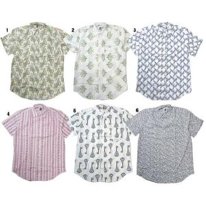 KENNINGTON ケニントン プリントシャツ 半袖 シャツ 総柄 シャツ レギュラーカラーシャツ メンズ progres
