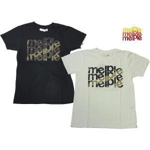 melple メイプル Tシャツ melple 3連 ロゴ プリント TEE 星 MP048|progres