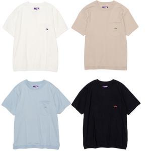 ノースフェイス パープルレーベル ナナミカ High Bulky H/S Pocket Tee 半袖 ロゴ刺繍 ポケットTシャツ 裾リブ NT3112N|progres
