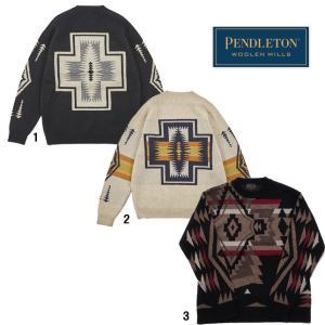 PENDLETON ペンドルトン メンズ ラムズウールモックネックセーター 柄物 ニット|progres