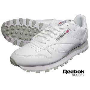 リーボック クラシック メンズ ホワイト レザースニーカー シューズ Reebok CLASSIC CL LTHR 2214 ホワイト レザー|progres