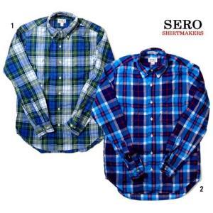 SERO セロ BROAD CHECK ブロードチェック ボタンダウンシャツ 長袖  コットン チェック柄 カナダ製 progres