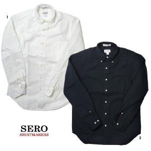 SERO セロ シアサッカー ボタンダウンシャツ 長袖  コットン 無地 カナダ製 メンズシャツ progres