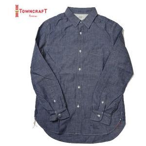 TOWN CRAFT J.C.PENNEYS タウンクラフト シャンブレー レギュラーシャツ|progres