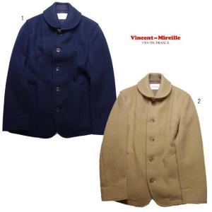 VINCENT ET MIREILLE ヴァンソン エ ミレイユ ラウンドカラー シングルジャケット ウールジャケット メンズ|progres