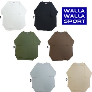 WALLA WALLA SPORT ワラワラスポーツ 1/2 ルーズベースボールティー 五分袖 5分袖 半袖 1/2 LOOSE BASEBALL TEE|progres