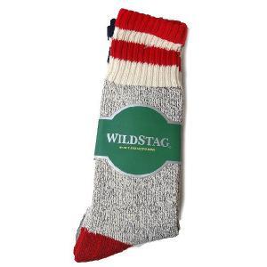 WILD STAG ワイルドスタッグ 3P ソックス スラブ ライン ロングソックス 靴下 1311|progres
