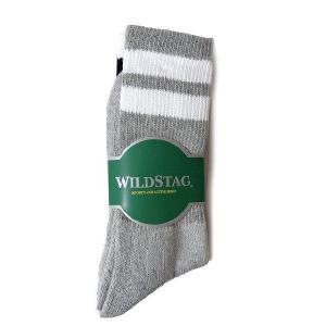 WILD STAG ワイルドスタッグ 3P ソックス ライン ロングソックス 靴下 2275|progres