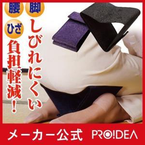 正座 正座いす 正座椅子 折りたたみ 携帯用 クッション 正座楽(A)|proidea