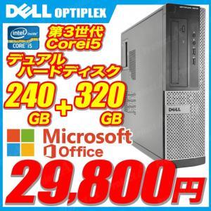 中古パソコン デスクトップパソコン 本体 デスクPC Windows10 MicrosoftOffice2016 第三世代Corei5 新品SSD240GB+HDD320GB DVDROM DELL Optiplex|project-a