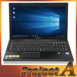 中古パソコン ノートパソコン 本体 ノートPC Windows10 Lenovo G500 第3世代 Cel 1.90GHz 320GB 4GB USB3.0 HDMI マルチ 無線 Webカメラ テンキー 0366|project-a