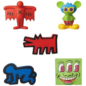 MINI VCD KEITH HARING Barking Dog/Flying Devil/Radiant Baby/Andy Mouse/Three Eyed Smiling Face project1-6