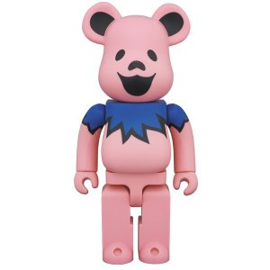BE@RBRICK GRATEFUL DEAD DANCING BEARS PINK 400%|project1-6