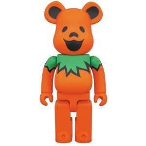 BE@RBRICK GRATEFUL DEAD DANCING BEARS ORANGE 400%|project1-6