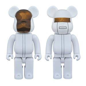 BE@RBRICK DAFT PUNK (WHITE SUITS Ver.) 2 PACK GUY-MANUEL de HOMEM-CHRISTO/ THOMAS BANGALTER 400%|project1-6