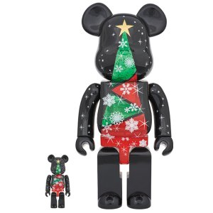 2017 Xmas BE@RBRICK 100% & 400%セット Stained-glass tree Ver.2|project1-6
