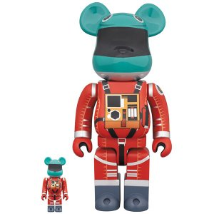 BE@RBRICK SPACE SUIT GREEN HELMET & ORANGE SUIT Ver.100% & 400%《2019年12月発売・発送予定》|project1-6
