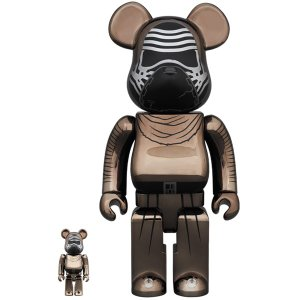 BE@RBRICK STAR WARS(TM) KYLO REN(TM) (The Force Awakens Ver.) Chrome Ver.100% & 400%|project1-6