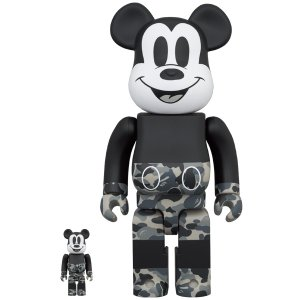 BE@RBRICK BAPE(R) MICKEY MOUSE MONOTONE Ver. 100% & 400%|project1-6