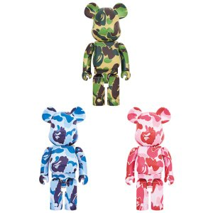 BE@RBRICK ABC CAMO 1000% GREEN/BLUE/PINKの商品画像