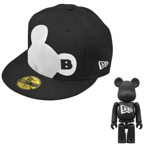New Era X BE@RBRICK FACE BLACK*WHITE|project1-6