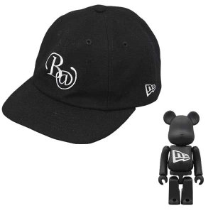 New Era X BE@RBRICK 8-PANEL BB BLACK*WHITE|project1-6