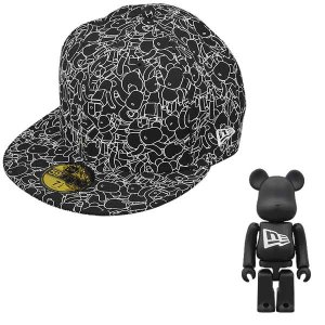New Era X BE@RBRICK ALLOVER BLACK*WHITE|project1-6