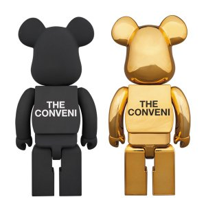 BE@RBRICK THE CONVENI × fragmentdesign 400% BLACK/GOLD|project1-6|02