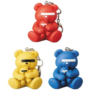 KEYCHAIN UNDERCOVER BEAR RED/YELLOW/BLUE|project1-6