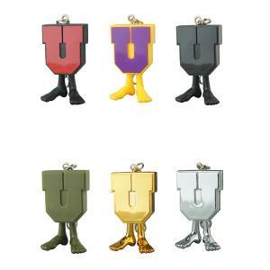 UNDEFEATED U-MAN KEYCHAIN BLACK×RED/PURPLE×YELLOW/BLACK/ OLIVE/GOLD CHROME/CHROME
