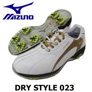 ■新品 元箱入 ■MIZUNOミズノ22.5cm DRY STYLE023 レディースゴルフシューズ...
