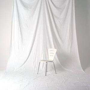単色モズリン布バック 【白】 (2.7x6m/シームレス/ 継ぎ目無し、袋縫い加工済み) BCP-101|prokizai