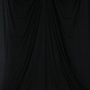 単色モズリン布バック【ブラック】(2.8×6m/シームレス/ 継ぎ目無し、袋縫い加工済み) BCP-103|prokizai