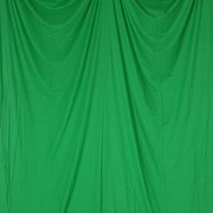 単色モズリン布バック【グリーン】(2.7×6m/シームレス/ 継ぎ目無し、袋縫い加工済み) BCP-105|prokizai