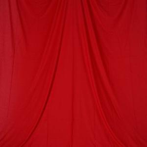 単色モズリン布バック【レッド】(2.8×6m/シームレス/ 継ぎ目無し、袋縫い加工済み) BCP-107|prokizai