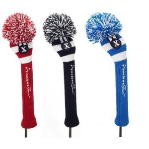 Rocket Tour Rugby Stripe Knit Pom Pom Fairway Head Cover ロケットツアー ラグビー ストライプ ニット フェアウェイウッド用 ヘッドカバー|prolinegolf