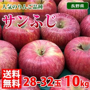 長野県産 サンふじ 秀品 10kg(28〜32玉入り)|promart-jp