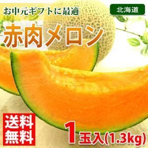 【送料無料】北海道 赤肉メロン 1玉入り(1.3kg)|promart-jp